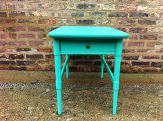 Vintage Side Table In Spearmint. $125.00, via Etsy.