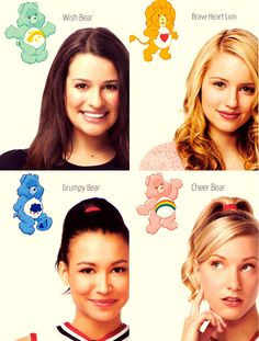 Rachel, Quinn, Santana and, Brittany bears! *--* #Glee
