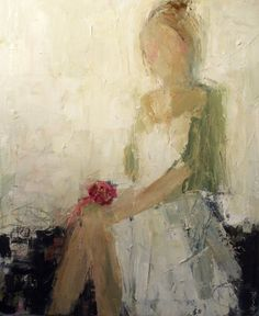 The Linen Dress by Holly Irwin | #dkGallery | Marietta, GA | SOLD