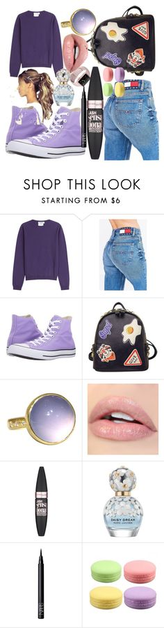 """#BACKTOSHOOL"" by helloitsstacy ❤ liked on Polyvore featuring Jil Sander, Tommy Hilfiger, Converse, WithChic, Maybelline, Marc Jacobs and NARS Cosmetics"