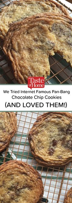 We Tried the Internet Famous Pan-Banging Chocolate Chip Cookies