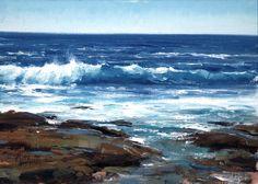 Receding Tide. Oil on board 10 x 14 in (25.4h x 35.56w cm) $3,200. Matt Smith