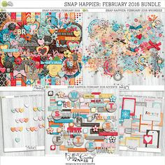 Snap Happier: February 2016 Bundle by Bella Gypsy Designs