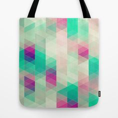 retro triangles #Tote #Bag