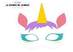 masque de licorne à imprimer Magic Birthday, Unicorn Birthday, Girl Birthday, Unicorn Printables, Unicorn Headband, Party Activities, Paper Models, Diy Paper, Party Supplies
