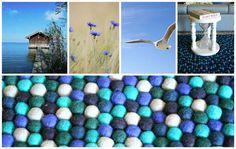 Raikasta sinistä! #HuopaPalloMatto #sisustusinspiraatio #sininen #kesä