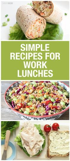 These simple recipes will have you looking forward to lunch time!