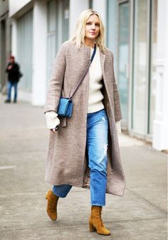 Is Tucking Your Jeans Into Boots Officially Out of Style? via @WhoWhatWear