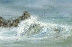 Crushing Wave-Lamorna Cove - Gillian Hodgkins