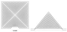 Louvre pyramid structure drawing