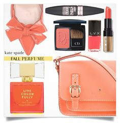 """Kate Spade Fall Perfume"" by tawnee-tnt ❤ liked on Polyvore featuring beauty, Kate Spade, Bobbi Brown Cosmetics, LVX, Christian Dior, Maybelline, katespade and fallperfume"
