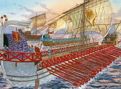 Emperor Trajan Fleet during the first Dacian War.