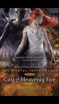 *SCREAMS* CLARY TAKE OF THAT WHTE DRESS AND PUT ON A FUGGING GOLD DRESS!!! Ok. It's the City of Heavenly Fire cover (aka the last book in The Mortal Instruments!)