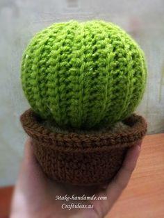 Easy Crochet Cactus Plant free pattern