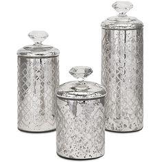 Nikki Chu Waldorf Mercury Glass Canisters, Set of 3 $20.00