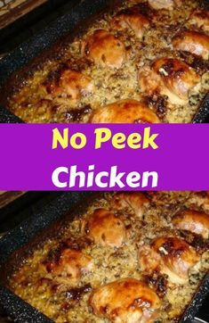 to make this delicious recipe for No Peek Chicken - oven baked! Just a few s How to make this delicious recipe for No Peek Chicken - oven baked! How to make this delicious recipe for No Peek Chicken - oven baked! Recipe For No Peek Chicken, Best Chicken Fried Rice Recipe, Chicken Rice Recipes, Chilli Recipes, Baked Chicken, No Peak Chicken, Chicken Onion Soup Mix Recipe, Amazing Chicken Recipes, Meat Recipes