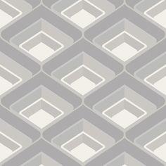 I Love Wallpaper Geo Retro Effect Wallpaper Grey for sale online Grey Wallpaper, Pattern Wallpaper, Geometric 3d, Girls Bedroom, Art Deco, Home And Garden, Texture, Retro, My Love