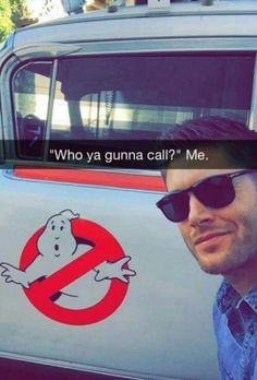 """""""Ghost busters?"""" """"NO SAM AND DEAN"""""""