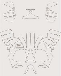 9 Best Cardboard Mask Template Images Cardboard Mask Costumes