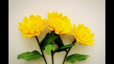 How To Make Chrysanthemum Flower From Crepe Paper - Craft Tutorial