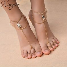Bead Crystal Anklet Wedding Foot Jewelry Chain Barefoot Sandals Beach Foot Bracelet For Women Fashion Jewelry On Sale Foot Bracelet, Anklet Bracelet, Beautiful Toes, Pretty Toes, Ankle Chain, Anklet Jewelry, Feet Jewelry, Beach Jewelry, Jewellery