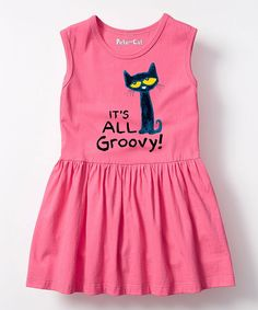 587396e78a5b7 Take a look at this Pete the Cat  It s All Groovy  Sleeveless Dress -