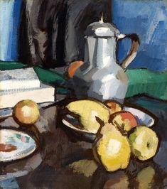 Still Life with Pewter, c.1930 by Samuel John Peploe (Scottish 1871-1935)