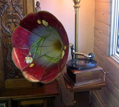 Antique Phonograph Gramophone.