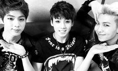 BTS   JIN   JUNGKOOK   RAP MONSTER   <3