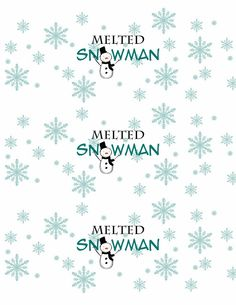 Free Melted Snowman Printable | Life In a Larger Story
