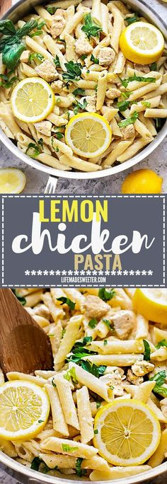 EASY One Pot Creamy Lemon Chicken Pasta Skillet makes the perfect easy weeknight meal. Best of all, it's made entirely in ONE PAN in under 25 minutes. So simple, bright and just amazingly delicious! Weekly meal prep for the week and leftovers are great for lunch bowls for work or school.