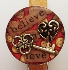 """believe in love"" ring made by Peanut and Olive."