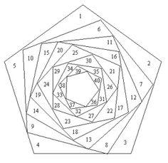 Free Iris Folding Patterns – Pentagon