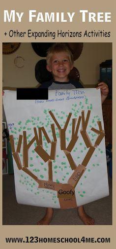 My Family Tree - Homeschool Social Studies Expanding Horizons Kindergarten Unit #kindergarten