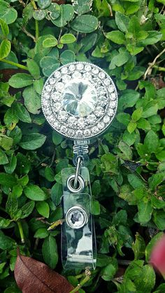 Check out this item in my Etsy shop https://www.etsy.com/listing/288518623/diamond-badge-reel-bling-badge-holder