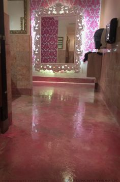 If you have a flooring project that requires custom colors and attention to detail, look no further than Concrete-Visions! We worked with Cadillac Ranch Bar in Cheyenne, WY to craft this custom hot pink epoxy coating using Miracote products. A bold epoxy coating for a bold color scheme! #ConcreteVisions #CementYourVision #epoxy #resinouscoatings #hotpink #Cheyenne