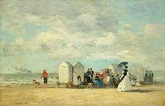 Eugène Boudin (1824 - 1898)Beach Scene, 1862