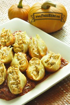 Pumpkin Ricotta Stuffed Shells | Food Hero - Healthy Recipes that are Fast, Fun and Inexpensive