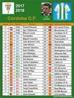 Córdoba CF of Spain 2017-18 squad list.