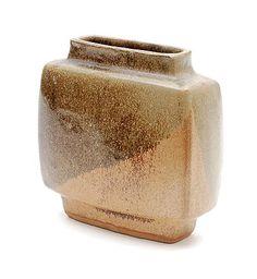 Glazed stoneware vase design execution Pierre Culot in own studio Belgium ca.1965