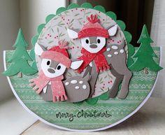 Replace diecut deer w/ fussy cut snowmen;any Christmas theme Company Christmas Cards, Christmas Card Crafts, Christmas Graphics, Christmas Cards To Make, Diy Christmas Ornaments, Christmas Tag, Xmas Cards, Christmas Projects, Diy Cards