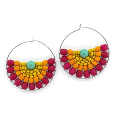 Color Splash Earrings | Fusion Beads Inspiration Gallery
