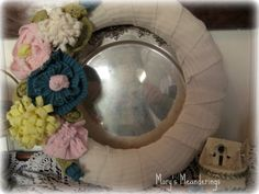 Mary's Meanderings: Springtime Weather Sweater........................ in a Wreath! TUTORIAL