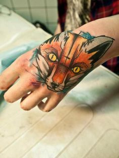 fox tattoo done by sven groenewald