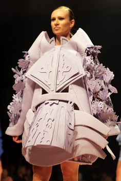 """ANTWERP FASHION DEPARTMENT // PROJECTS FIRST YEAR // DRESS """"2D INTO 3D"""""""