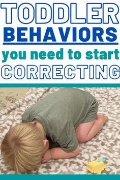 Examples of Toddler Behaviors that need your attention and correction. Don't keep ignoring behaviors thinking they'll go away! Instead, start correcting them with teaching and thoughtful discipline! Including How to make a plan that works for your family! #toddler #toddlerdiscipline #discipline #baby #tantrums #terribletwos #momlife #mom #momhacks Toddler Behavior, Toddler Discipline, Toddler Age, Terrible Twos, Raising Kids, Happy Kids, Parenting Advice, Baby Love, Baby Tantrums