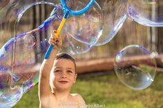 Pompas de jabón, niños, alegría, color, verano, risas