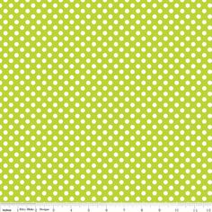 Hey, I found this really awesome Etsy listing at https://www.etsy.com/listing/157294475/lime-small-dots-from-riley-blake-1-yard