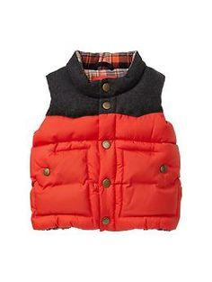Colorblock puffer vest | Gap