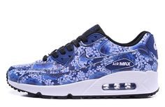 New Nike Air Max 90 PREMIUM City Tokyo 747105-401 Womens Flower trainers blue rose